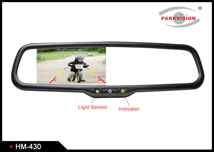 RGB Car Rearview Mirror Monitor With Backup Camera , Car Mirror Camera System