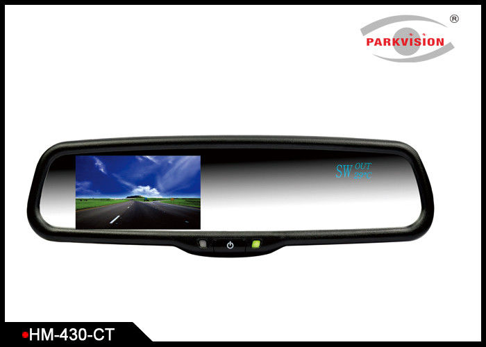 800CD / M2 Car Rear View Mirror Screen With Compass And Temperature Showing