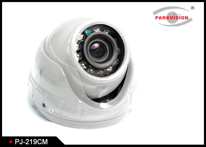 White Bus Rear View Camera With Rotatable Lens , Vehicle Security Camera System